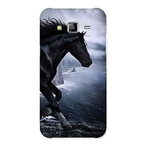 Cute Premier Black Horse Back Case Cover for Samsung Galaxy J5