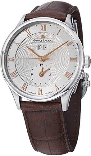 Maurice Lacroix Masterpiece Tradition da uomo, con data e GMT-Orologio automatico MP6707 001-111-SS