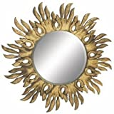 """Shimmering Wood Carved Wall Mirrors 46""""W, 46""""H"""