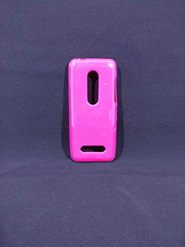 iCandy™ Colorfull Thin Soft TPU Back Cover For Nokia Asha 206 - Raspberry  available at amazon for Rs.109