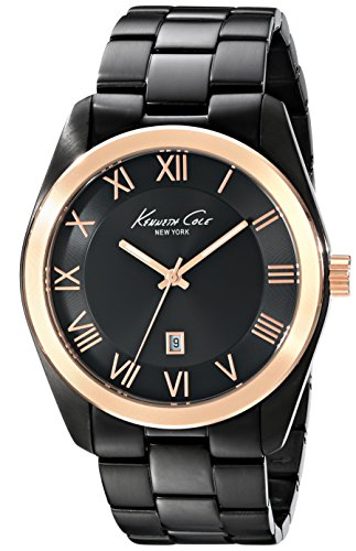 Kenneth Cole New York Men'S Kc9313 Classic Viena Analog Display Japanese Quartz Black Watch