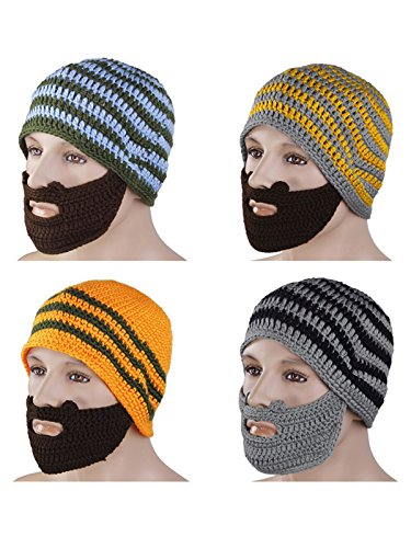 HnB New Unisex Men Women Beard Beanie Mustache Hat Mask Face Knit Ski Winter Cap