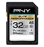 PNY Elite Performance 32GB High Speed SDHC Class 10 UHS-I, U1 Up to 90MB/sec Flash Card - P-SDH32U1H-GE
