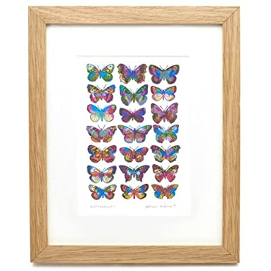 Butterflies by John Dilnot (Framed Print)