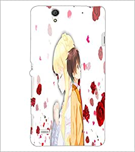 PrintDhaba Couple D-4433 Back Case Cover for SONY XPERIA C4 (Multi-Coloured)