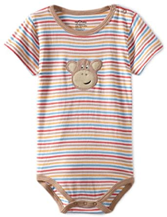 my O baby Baby-Boys Newborn Stripped Bodysuit, Multi, 12/18 Months