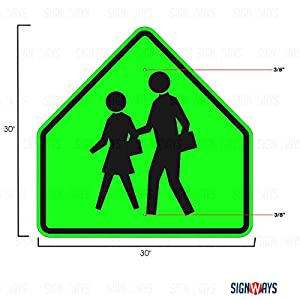 S1-1, School Crossing Symbol Traffic Sign, 30