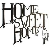 Schlüsselbrett Home Sweet Home - Hakenleiste - Stahl (schwarz)