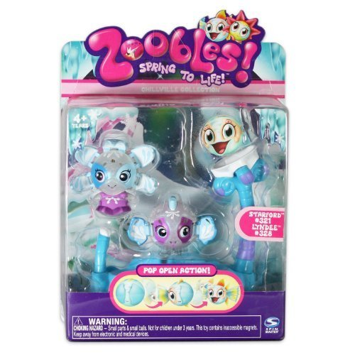 Zoobles: Twobles Starfish & Fish Happitat - Starford #321 & Lyndee #328 детский игровой набор sega zoobles 55