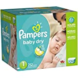 Pampers Baby Dry Economy Pack Plus, Size 1, 252 Count