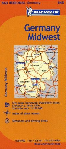 Michelin Germany Midwest Map 543 (Maps/Regional (Michelin))