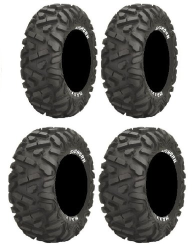 Full set of Maxxis BigHorn Radial 26x9-14 and 26x11-14 ATV Tires (4) (Atv Tires Maxxis compare prices)