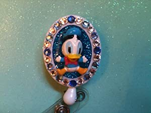 Donald Duck (Baby) Swarovski Crystal Embellished Badge Holder,id Holder, Retractable Reel, Free WATERPROOF Sleeve FREE SHIPPING WHEN 2 OR MORE ITEMS PURCHASED