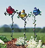 Lawn & Patio - Bird Gazing Balls Garden Stake Set By Collections Etc
