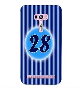 PrintDhaba Numerology Number 28 D-2586 Back Case Cover for ASUS ZENFONE SELFIE ZD551KL ULTRA (Multi-Coloured)