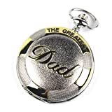 Weipeng Stainless Steel Pocket Watch Golden Dad Dangle Pocket Quartz Watch+chain Pw023 with Gift Box