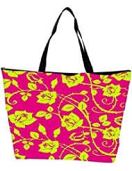 Snoogg Yellow Roses Leaves Designer Waterproof Bag Made Of High Strength Nylon