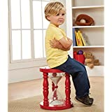 Time Out Stool For Children - Red Painted Wood