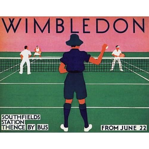 Amazon.com: Wimbledon Doubles Tennis Vintage Advertisement