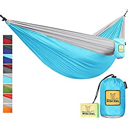 The Ultimate Single & Double Camping Hammocks- The Best Quality Camp Gear For Backpacking Camping Survival & Travel- Portable Lightweight Parachute Nylon Ropes and Carabiners Included! BG