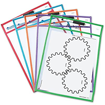 Learning Resources Write and Wipe Pockets