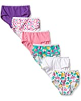 Fruit of the Loom Little Girls' Wardrobe Brief (Pack of 6)