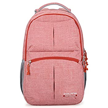 Bolang Fashionable Lightweight Water Resistant Nylon Backpack School Bag Super Cute Stripe School College Laptop Bag for Teens Girls Boys Students 8459