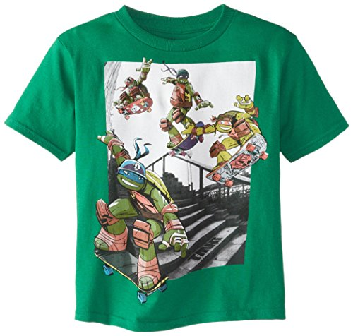 Teenage Mutant Ninja Turtles Little Boys' Photoreal Skating Short Sleeve Tee