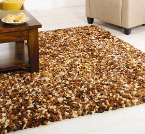 Flair Rugs Fondant Truffle Shaggy Rug, Brown Mix, 120 x 170 Cm from Flair Rugs