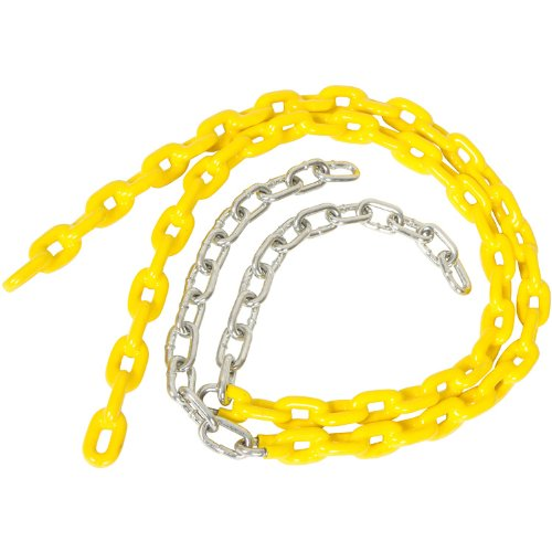 3 1/2 Ft Coated Trapeze Swing Chain (Pair) (Yellow) With Sss Logo Sticker