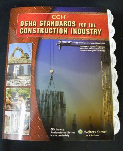 Image for OSHA Standards for the Construction Industry as of 08/09