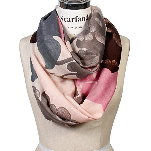 Scarfand Infinity Scarf (Floral Beige)