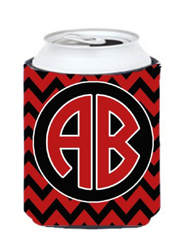 Chevron Cardinal And White For Arkansas Personalized Can Or Bottle Hugger