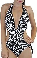ToBeInStyle Women's Halter Monokini & Tie Side Bottom