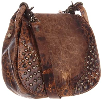 FRYE Vintage Stud Cross Body,Taupe,One Size
