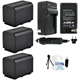 3-Pack NP-FV70 High-Capacity Replacement Batteries With Rapid Travel Charger For Select Sony Digital Cameras. UltraPro Bundle Includes: Camera Cleaning Kit Screen Protector Mini Travel Tripod