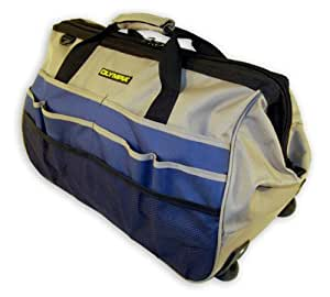 Olympia Tools 90-326 Rolling 20-Inch Wide Mouth Tool Bag