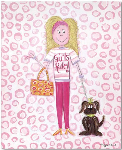 "Doodlefish Gallery-Wrapped 16""x20"" Wall Art, Girls Rule"