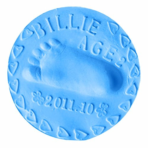buy niceEshop(TM) Clay Baby Handprint, Footprint or Paw Print Keepsake Kit for Infant Boys Girls,Blue for sale