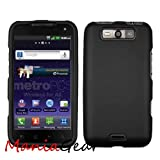 [ManiaGear] Black Rubberized Shield Hard Case for LG Viper 4G MS840/LG Connect 4G LS840 (Sprint/Metro Pcs)