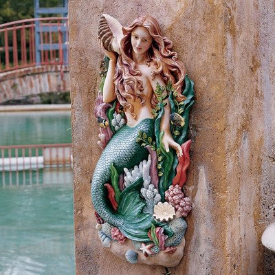 Design Toscano Melody's Cove Mermaid Wall Sculpture