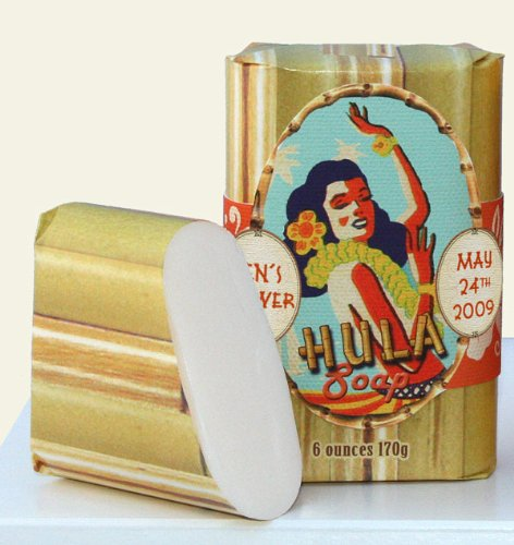 Dolce Mia Hula Girl Pikake Natural Soap Bar with Shea Butter 6 oz. (6 per order) Personalized Gift Favors
