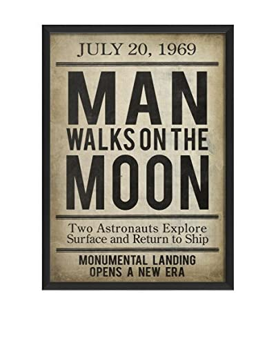 The Artwork Factory Man On The Moon II Framed Art