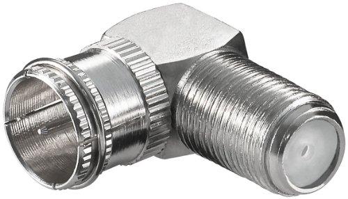 Verbinder:F-Quick-Stecker>F-Kupplung,90°; WE 1132 W (F-male quick F-female)