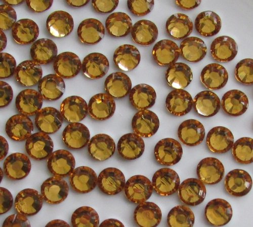 144pcs Round Flatback Rhinestones 5mm (21ss)--- Golden Yellow By Pixiheart