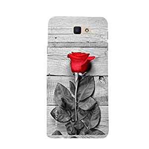 iSweven samj7P_1067 Printed high Quality Red_Rose Design Back case cover for Samsung Galaxy J7 Prime