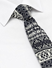 Limited Collection Fair Isle Knitted Tie