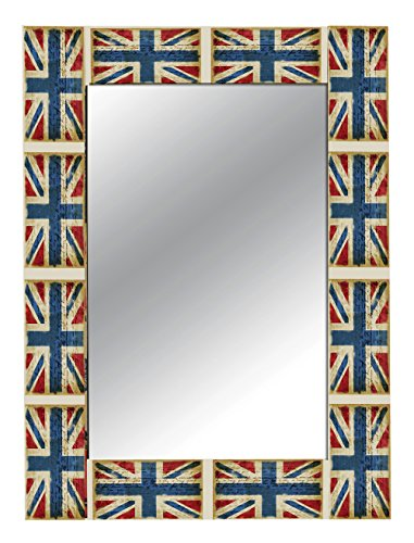 The Attic Union Jack Mirror Frame (Glossy Finish, Brown)