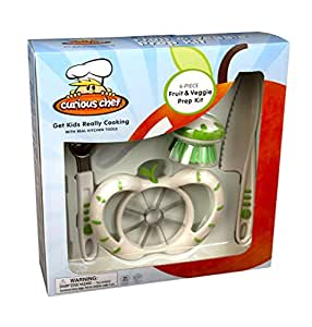 Curious Chef Kids 6-Piece Fruit and Veggie Prep Kit