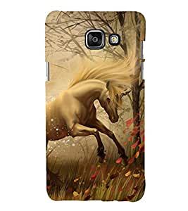 printtech Fantasy Unicorn Back Case Cover for Samsung Galaxy A7 (2016)